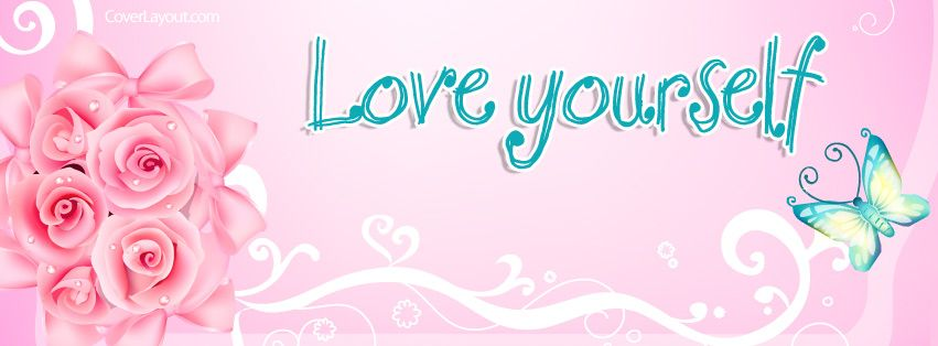 Love Yourself Butterfly Roses Facebook Cover CoverLayout