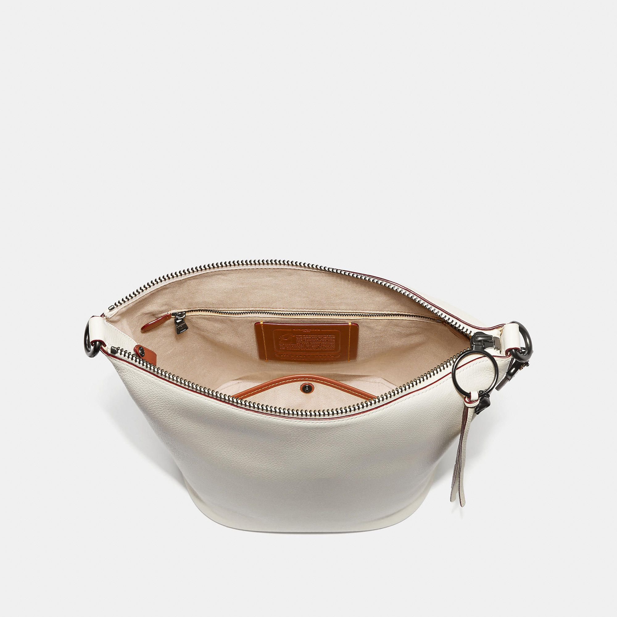 dc36abe2a2610 COACH Duffle In Natural Pebble Leather With Border Rivets - Women s