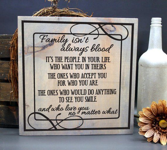 Wedding Gifts For Relatives: Family Quote Wood Sign, Step Parent Thank You Appreciation