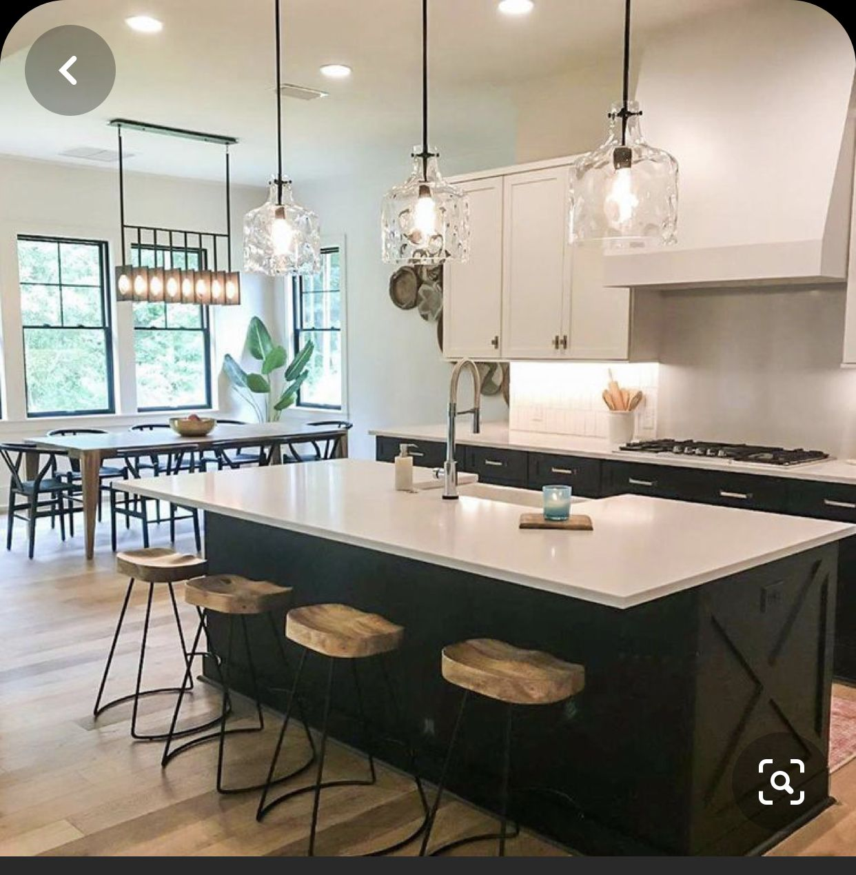 Pin By Lilly Burgos On Home In 2020 Farmhouse Kitchen Cabinets Farmhouse Kitchen Lighting Kitchen Remodel