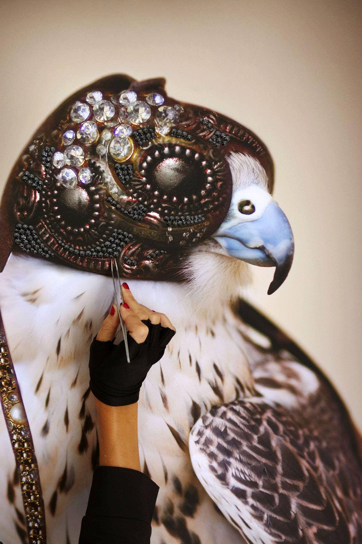 Diva Art Falcon Of Light Swarovski Horse Clip Art Hunting Art Falcon Hunting