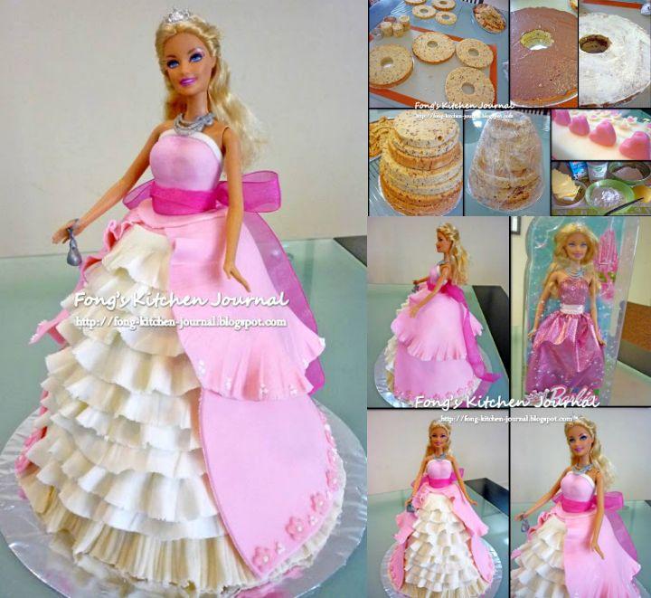 Barbie Princess Cake Tutorial BIRTHDAY CAKES Pinterest Barbie