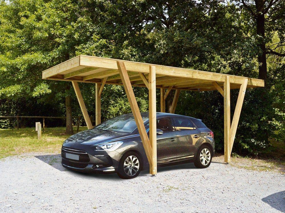 Aménagement extérieur bois I Carport bois, Abri voiture