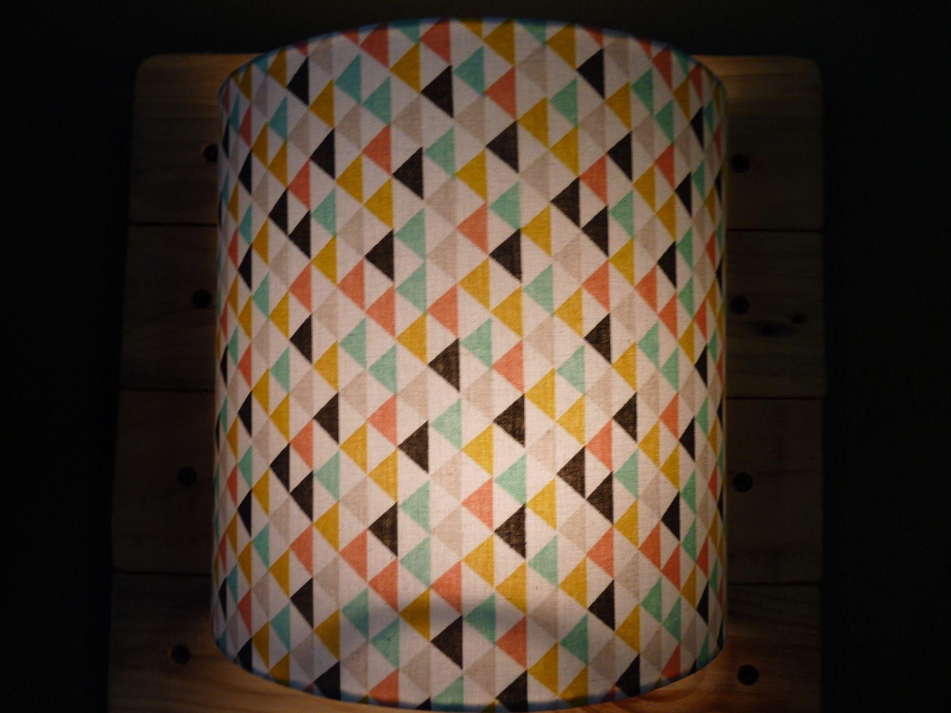 Luminaire Applique murale 20 cm tissu graphique scandinave petits