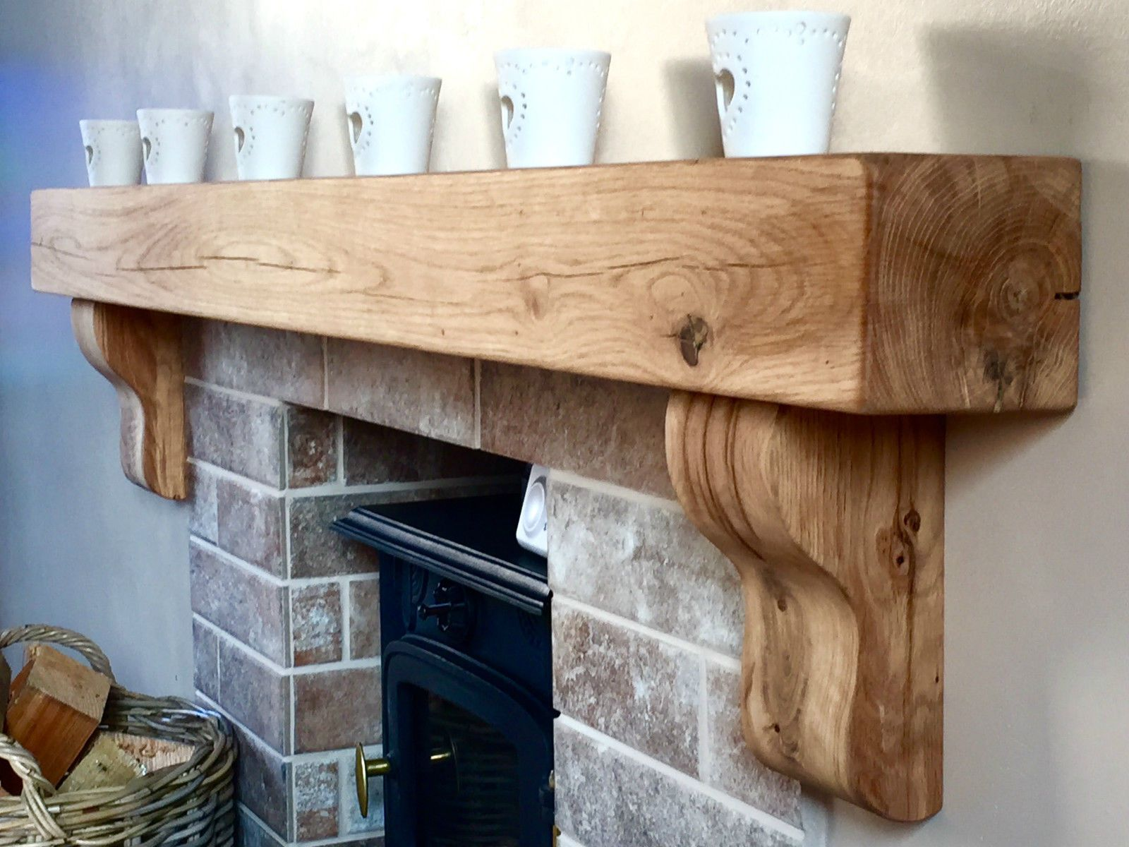 Fireplace Beams Solid Oak Beam Floating Shelf Fireplace Mantel Corbels Tv