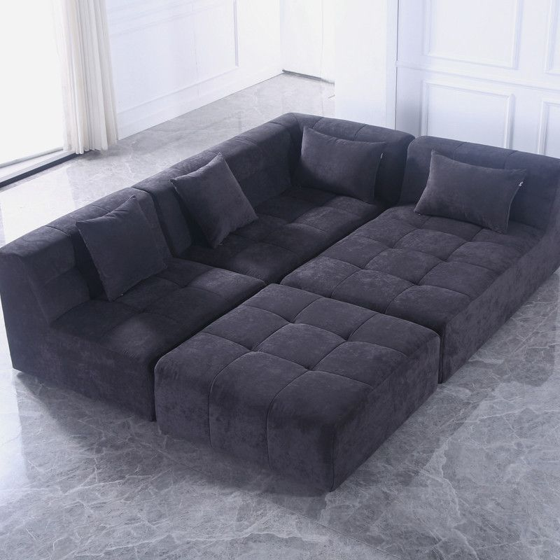 Pogo Concept Takanap Green Velvet Tufted Sofa Living Room Area Rugs Mid Century Sofa