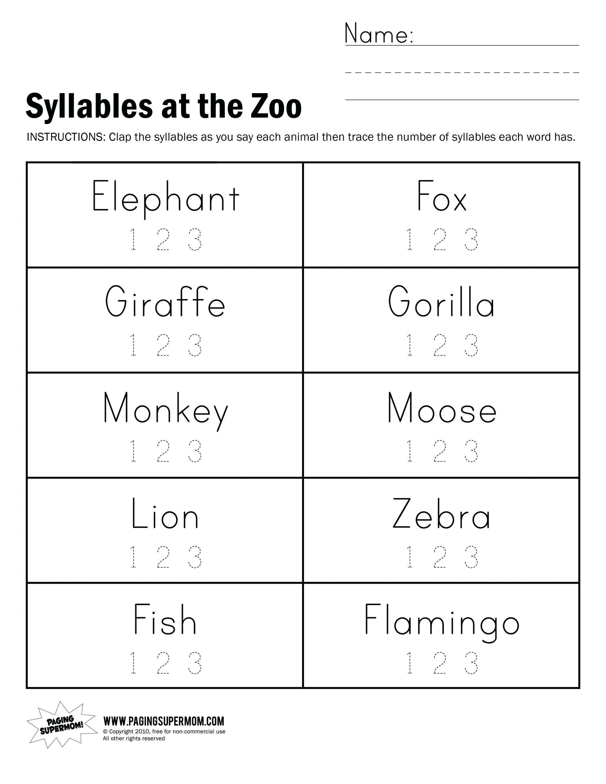 7 Closed Syllable Worksheets For Kindergarten In
