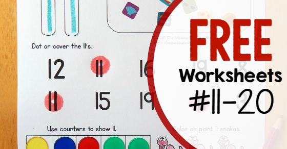 Free Worksheets For Numbers 11 20 Worksheets Free Worksheets And