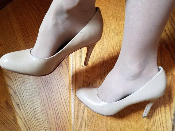 49a8d2e7d3b66 Sexy nude leather shoes stiletto high heels naked skin tone pumps ...