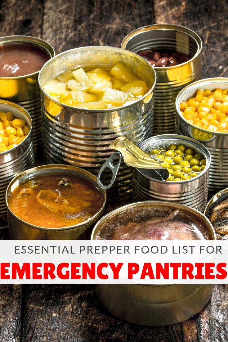 Essential prepper food list for emergency pantries