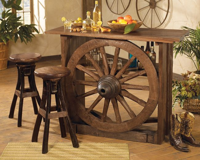 Wagon Wheel Bar Furniture The American West Pinterest
