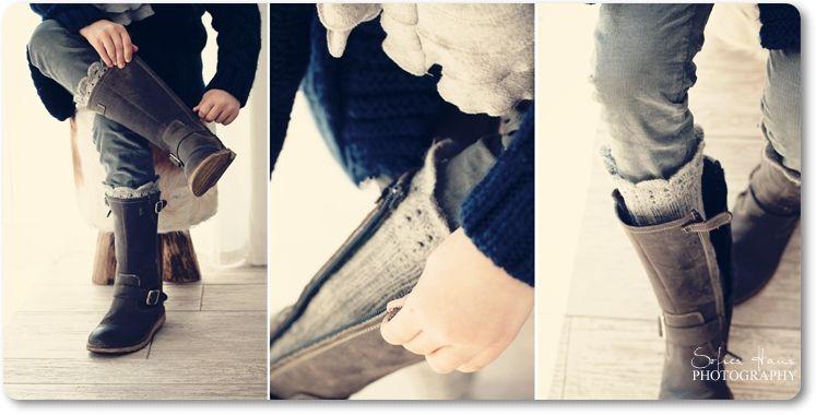 love love love those handknit boot socks