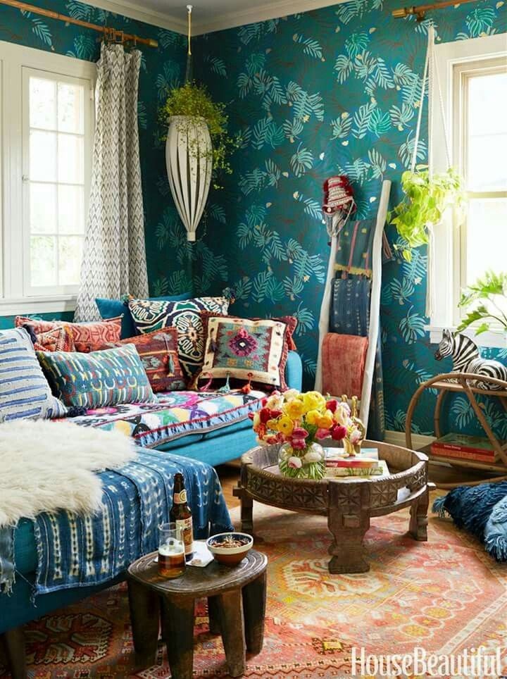 Amazing Textures And Colors In This Room. Justina Blakeneyu0027s Punchy,  Pattern Filled Los Angeles Home U2014 House Beautiful Part 41