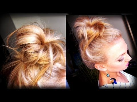 10 fabulous messy bun tutorials for long hair
