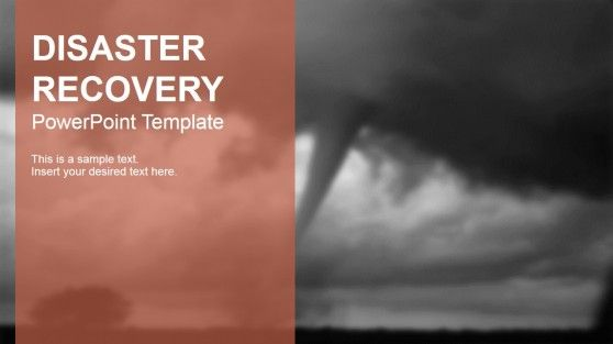 Disaster Recovery PowerPoint Template Template - elegant powerpoint template