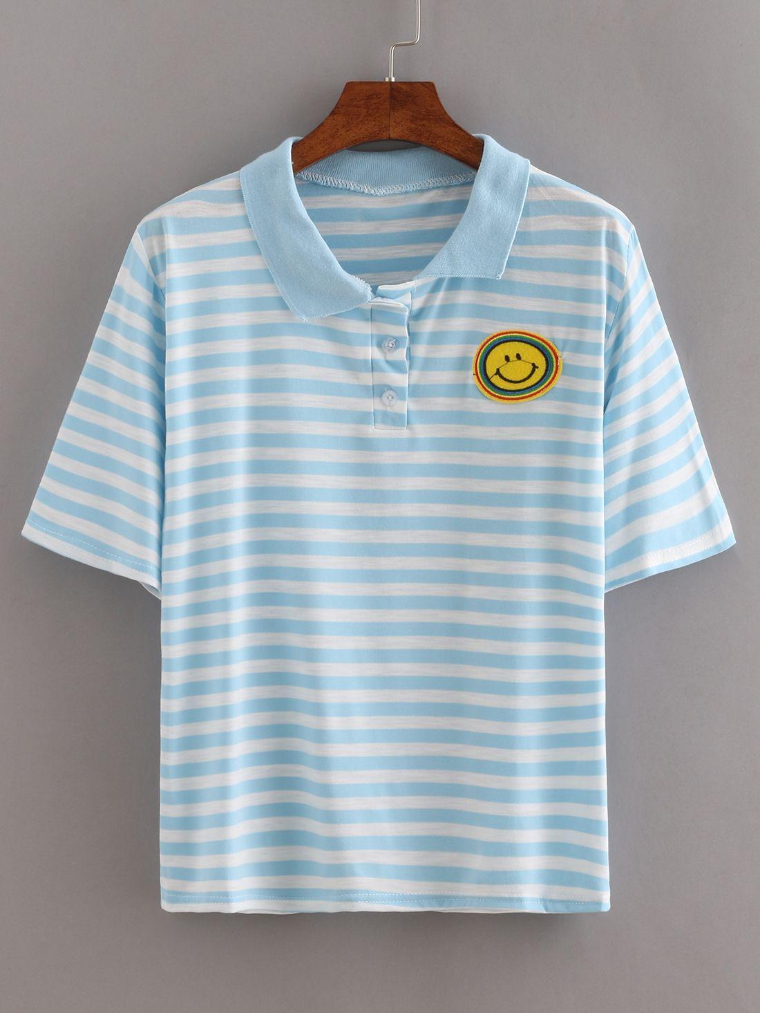 Shop Pink Contrast Round Neck T-shirt online. SheIn offers Pink ...