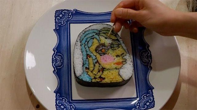 Sushi rolled into art video pinterest japan japan food forumfinder Images