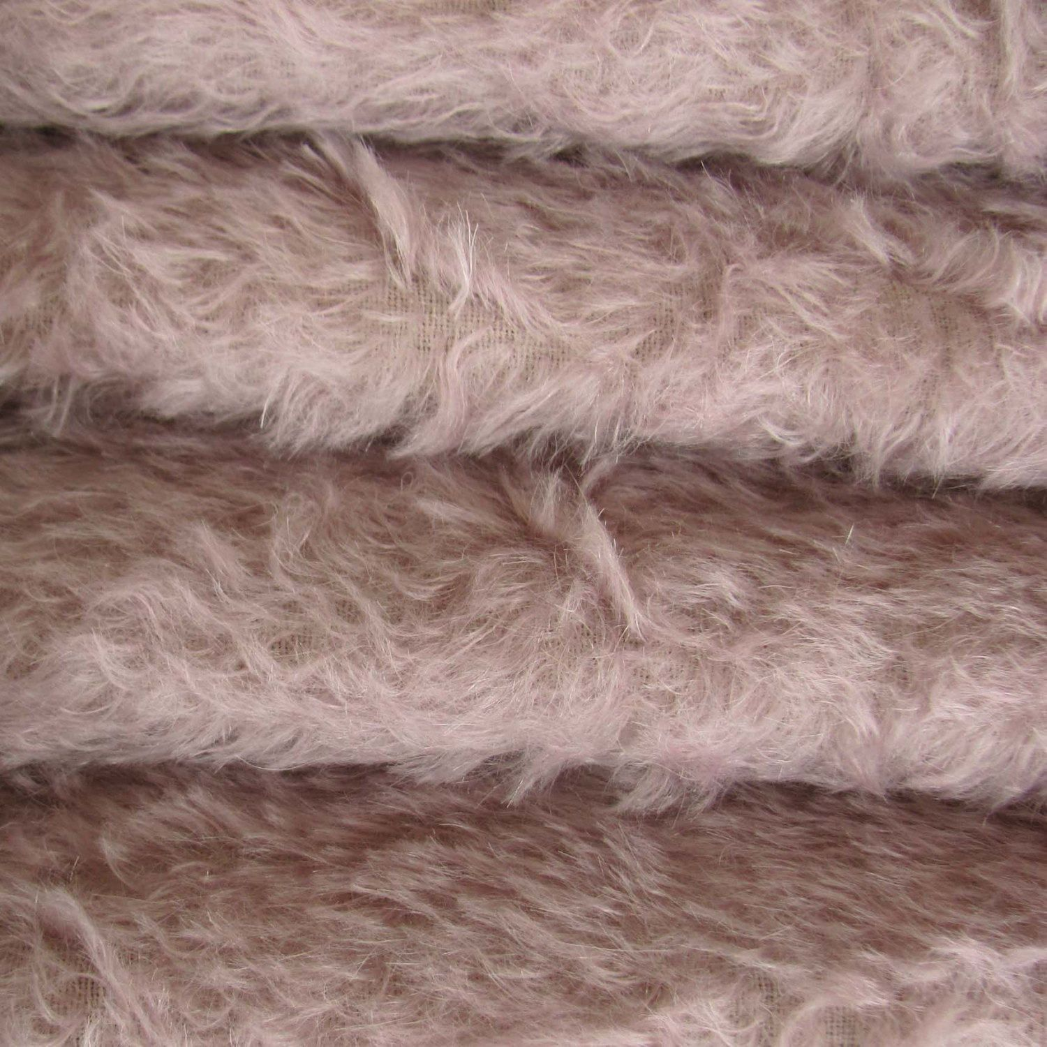 "1//6 yd 300S//CM Cream INTERCAL 1//2/"" Ultra-Sparse Curly Matted Mohair Fur Fabric"