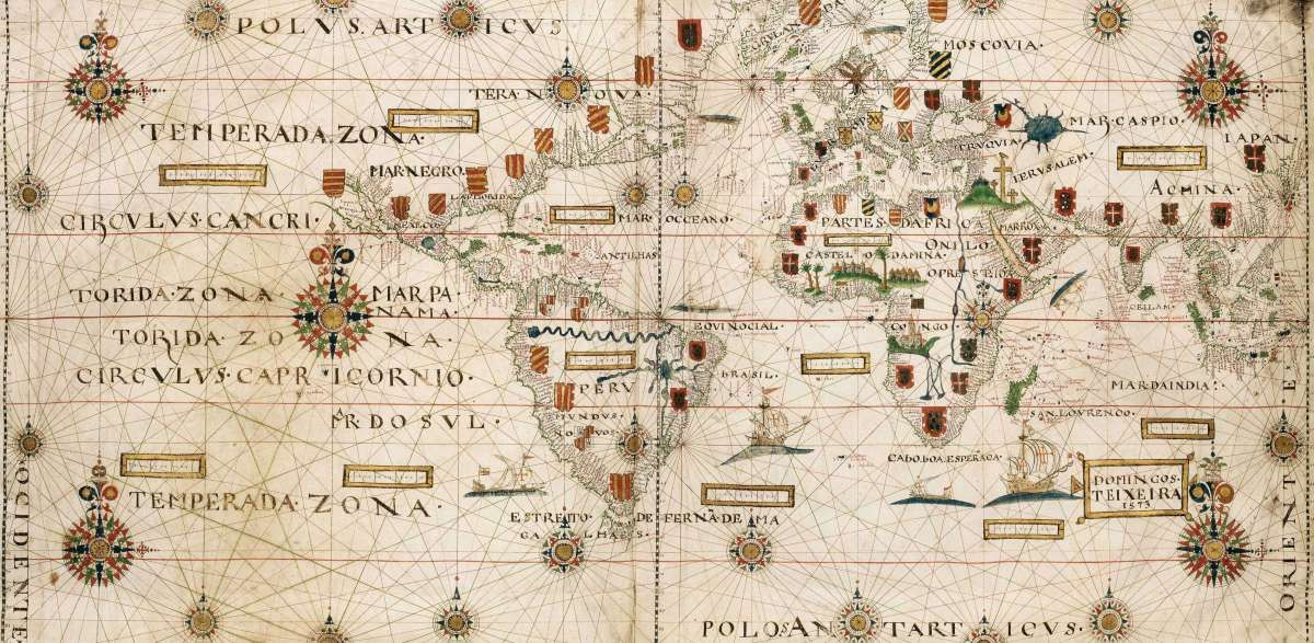 Domingo teixeira world map 1573 maps as art world pinterest world map by domingos teixeira 1573 gumiabroncs Image collections