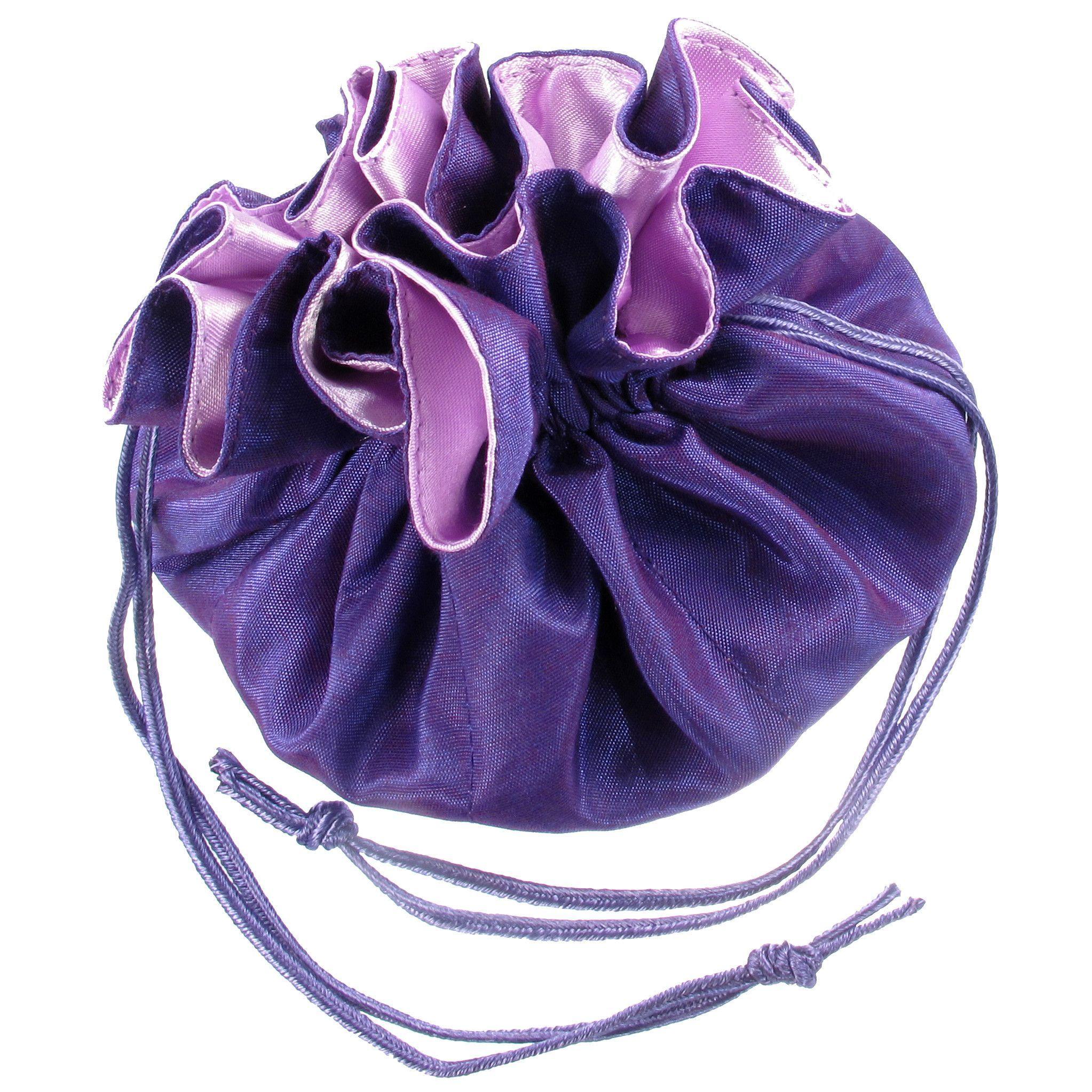 Satin & Silk Drawstring Jewelry Pouch