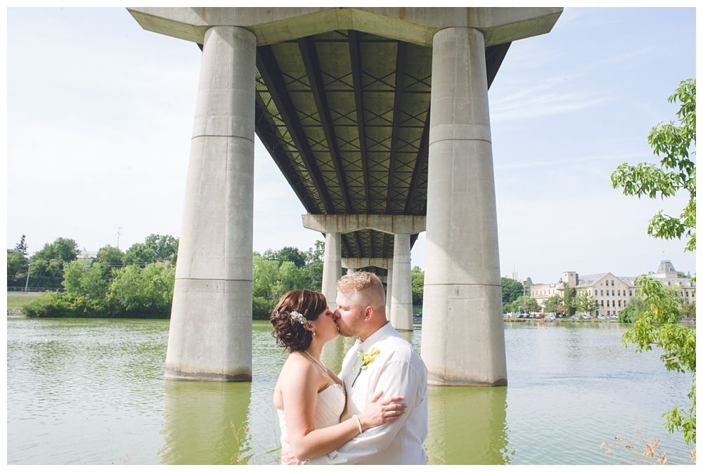 Pullmans Under Bridge Wedding Photo Appleton WI Photographer Alison Kundratic Photography