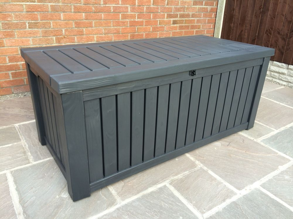 Keter Rockwood Anthracite Plastic Garden Storage Deck Box 570 Ltr Capacity XL in Home Furniture & Keter Rockwood Anthracite Plastic Garden Storage Deck Box 570 Ltr ...