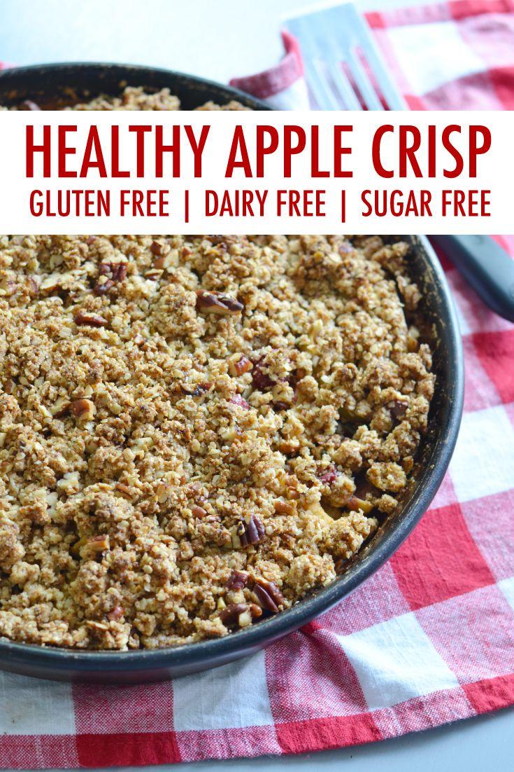 Healthy Gluten Free Apple Crisp Recipe with Cranberries
