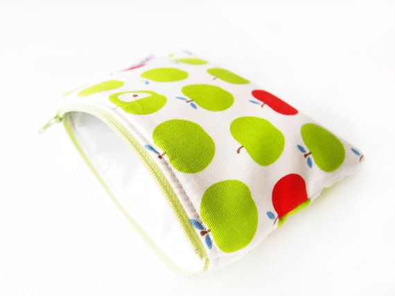 Mini Insulated Snack Bag Green Le By Piggledee On Etsy
