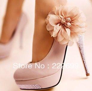 Free Shipping Light Pink Pu Leather Women S Platform Pumps Stilettos Wedding High Heels Shoes 42 88