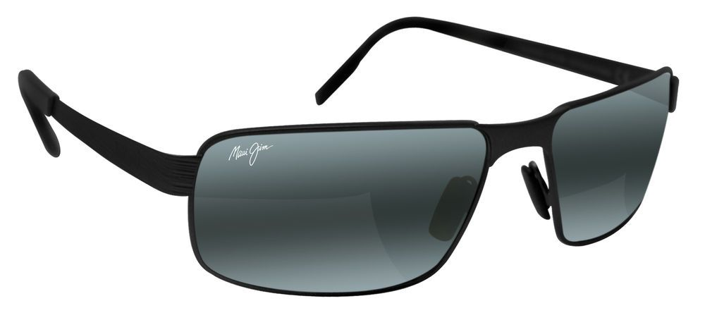 9e133f1befd Maui Jim 187-02M Castaway Matte Black Neutral Grey Polarized Sunglasses  Maui Jim