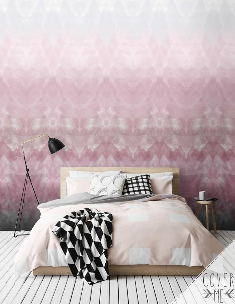 Ombre Removable Wallpaper / Self Adhesive Wallpaper