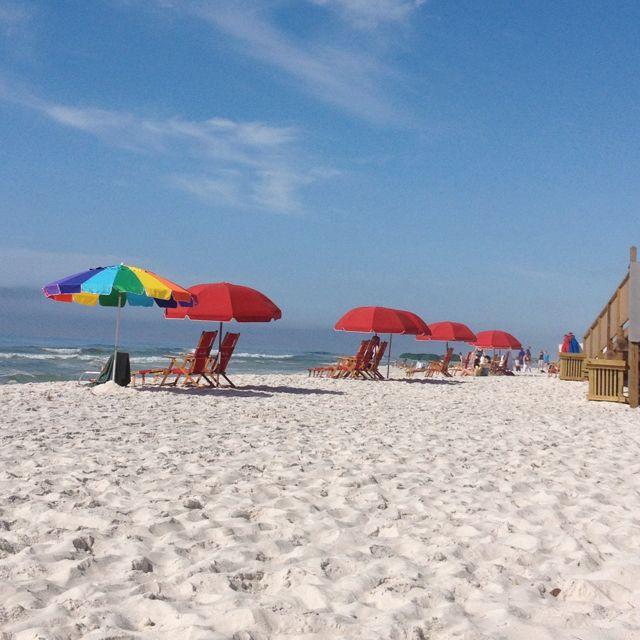Paradise on the white sand of Florida beaches