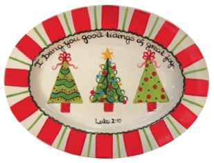 Christmas Tree Platter Ceramic Christmas Trees Sharpie Crafts Pottery Painting Designs
