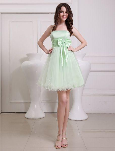 Pretty Green Bridesmaid Dresses