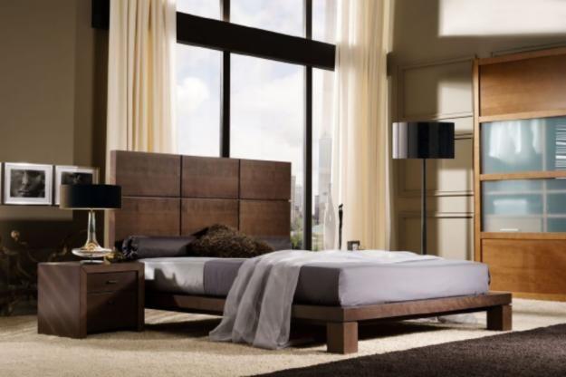Recamara elaborada en madera de encino, cabecera alta Muebles - recamaras de madera modernas
