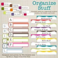 Organize... amazing printable labels!! :) best website ever! printables, recipes, all kinds of much need stuff
