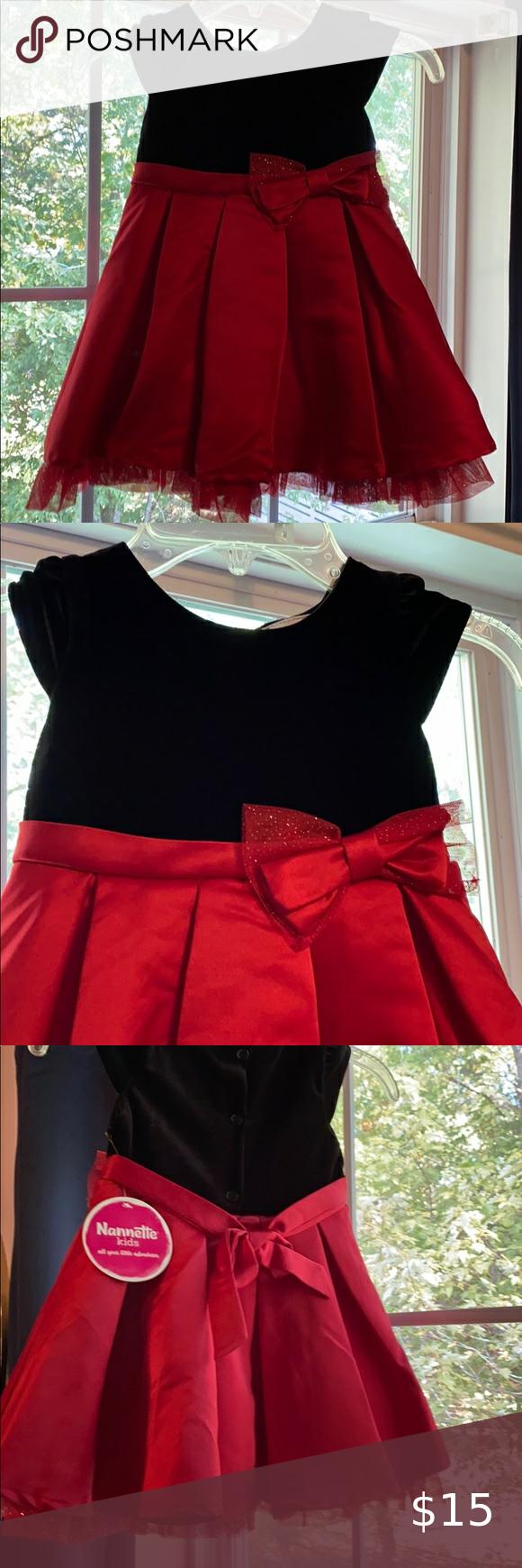 Nwt Red And Black Dress Black Dress Red Skirts Velvet Fashion [ 1740 x 580 Pixel ]