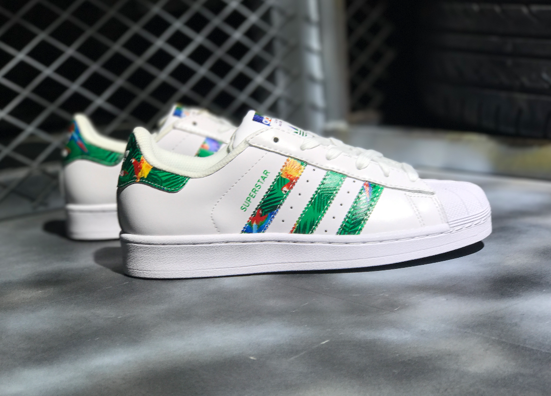 de56fb4cbf ADIDAS ORIGINALS SUPER STAR TROPICAL JUNGLE WHITE BY2274 | Fit ...