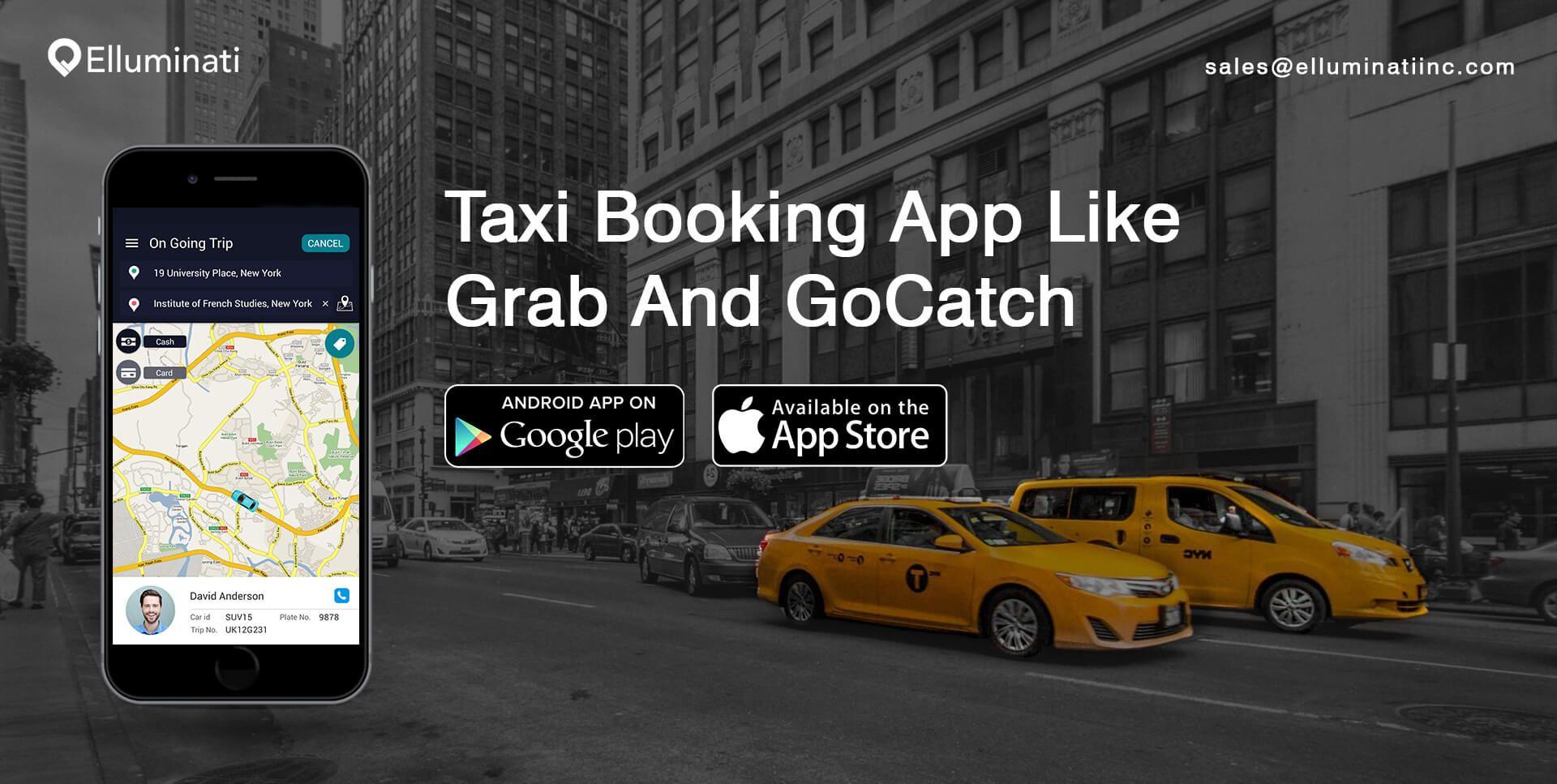 Pin by Elluminati Inc on GoCatch And Grab Taxi Clone App