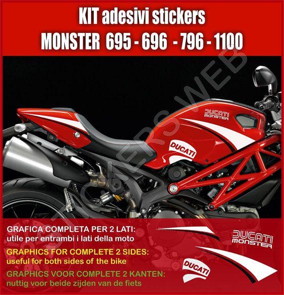 Adesivi Stickers Moto Motorcycle Ducati Monster - Ducati motorcycles stickers