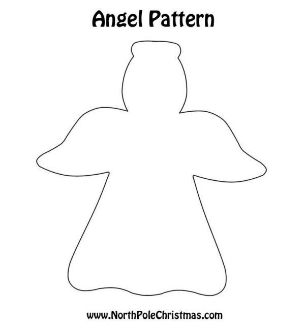 Free angel template angel crafts pinterest free for Angel tree decoration template
