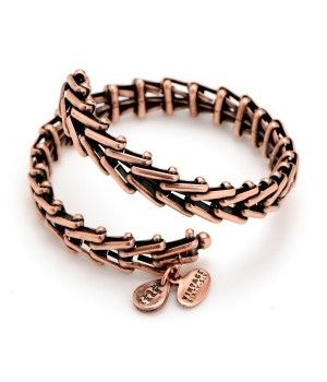 Gypsy 66 Wrap Bangle Rose Gold by Alex and Ani $58.00