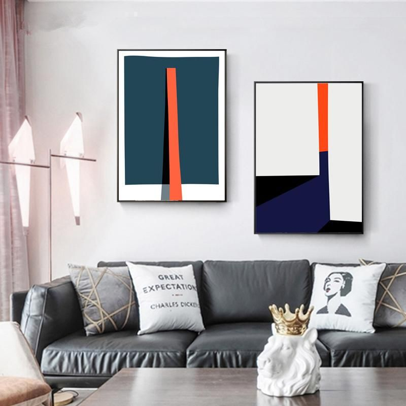 Bold Geometric Abstract Design Wall Art Posters Contemporary Art Canvas Prints Paintings For Modern Office Salon Home Living Room Art Decor In 2020 Contemporary Art Canvas Living Room Art Wall Art Designs