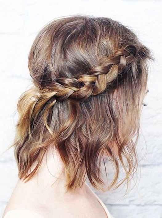 Coiffure Bapteme Cheveux Mi Long Coiffure Coiffure2017 Cheveux Tendance Tendan Prom Hairstyles For Short Hair Short Hair Styles Easy Braids For Long Hair