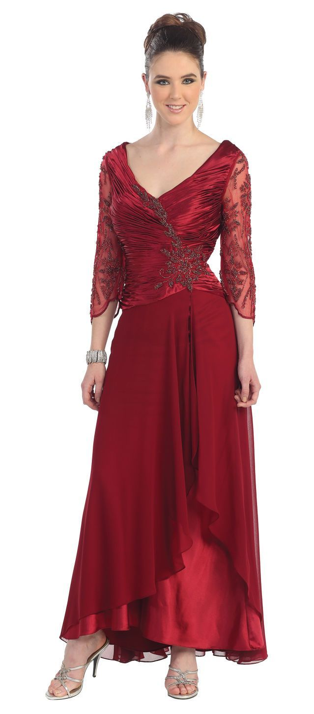 Thedressoutlet long mother of the bride plus size formal evening