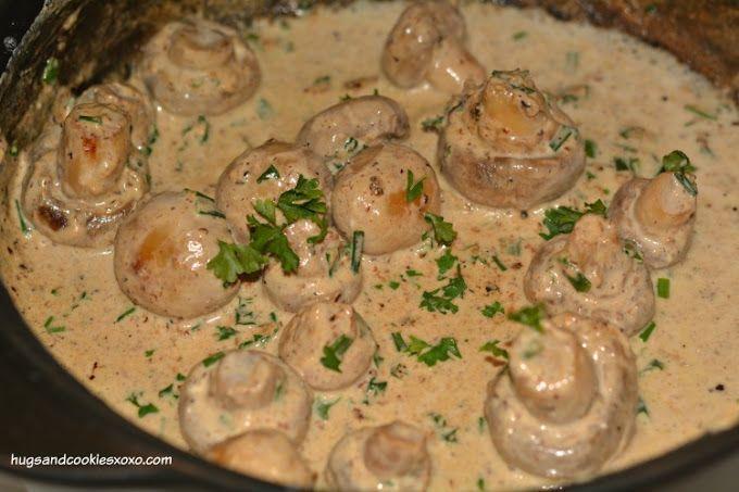 Creamy Garlic Mushrooms Recipe on Yummly. @yummly #recipe