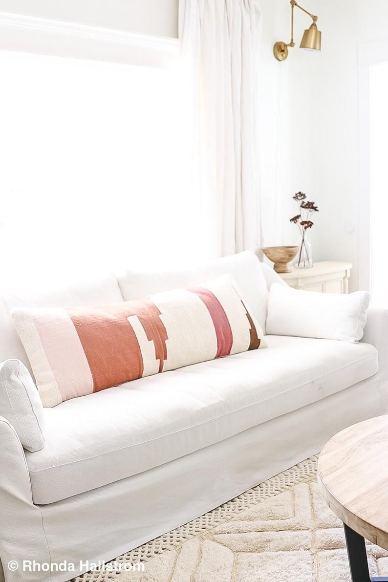 Extra Large Lumbar Pillow Boho Modern Farmhouse Decor