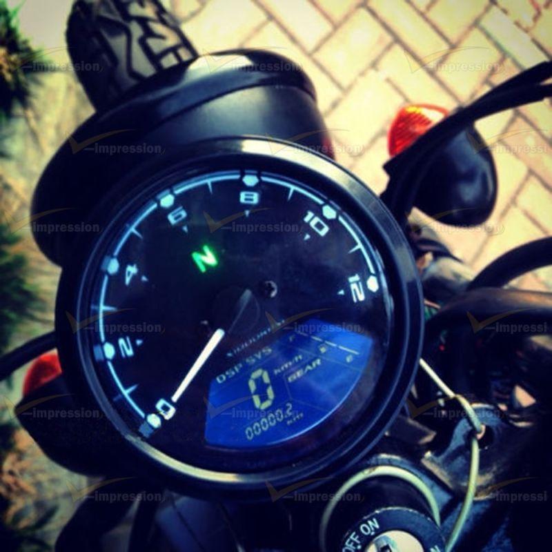 12000rpm Kmh  Mph Lcd Digital Odometer Speedomete