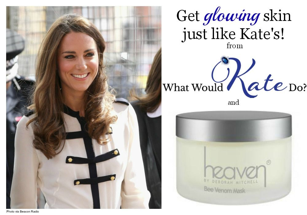 Catherine Duchess Of Cambridge The Former Kate Middleton Owes Her Glowing Skin To The Heaven Bee Venom Mask And Y Bee Venom Mask Bee Venom Heaven Skincare