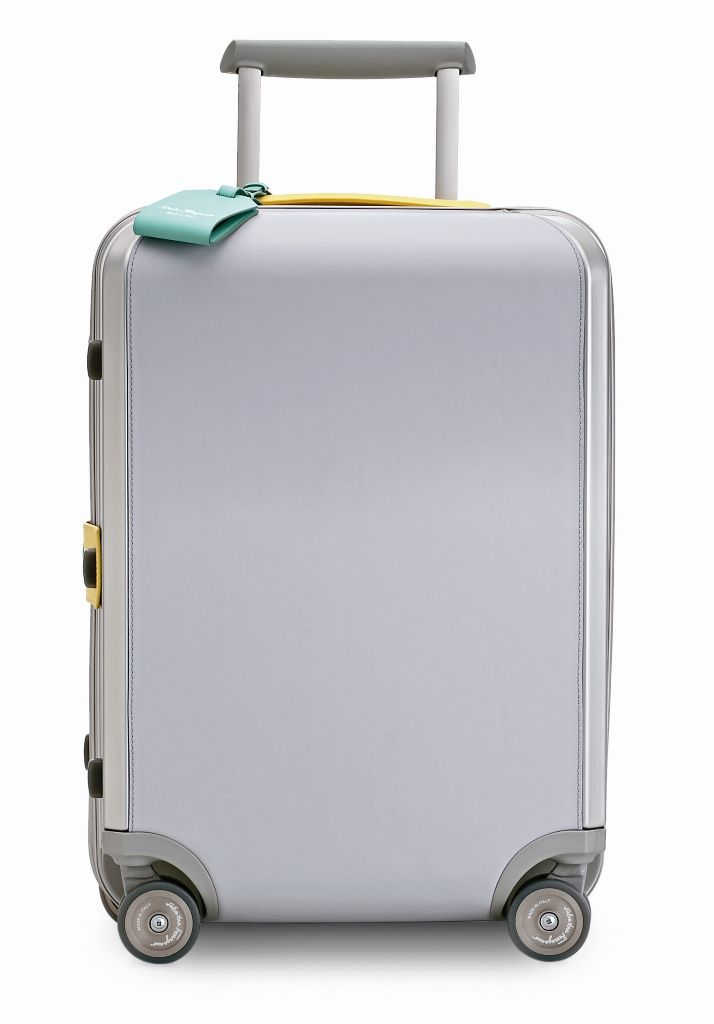 51ab3ded57 Ferragamo Travel Grey Leather Trolley